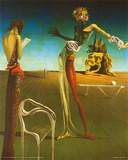 Salvador Dali (Woman With Head of Roses) Art Poster Print Photo