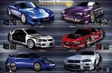 Street Racers (6 Cars) Art Poster Print Prints