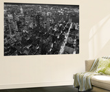 New York City Empire State Building Facing East by Henri Silberman Mini Mural Huge Poster Print Wandgemälde