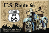 Route 66 The Mother Road Motorcycle Magnet Magnet