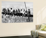John C Ebbets Lunch Atop A Skyscraper Rockefeller Center Photo Mini Mural Huge Poster Art Print Wallpaper Mural