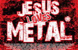 Jesus Loves Metal Art Poster Print Posters