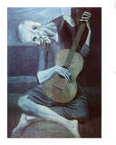 Pablo Picasso Old Guitarist Art Print Poster Plakaty
