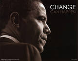 Barack Obama (Change Can Happen) Art Poster Print Masterprint
