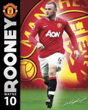 Manchester United FC Wayne Rooney Sports Poster Print Posters