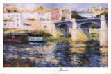 Pierre Auguste Renoir Bridge at Chatou Art Print Poster Posters