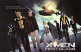 X-Men: First Class Movie James McAvoy Michael Fassbender Poster Print Masterprint