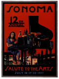 1997 Sonoma Salute to the Arts Art Print Poster Prints