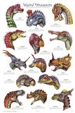 Weird Dinosaurs Educational Paleontology Science Chart Poster Pósters