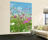 Flower Meadow Huge Wall Mural Art Print Poster Seinmaalaus
