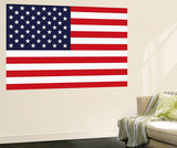 Stars and Stripes US Flag Mini Mural Huge Poster Print Wandgemälde