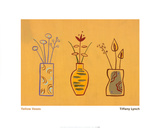 Yellow Vases Posters by Tiffany Lynch