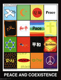 Peace & Coexistence (Languages) Art Poster Print Prints