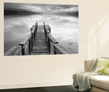 Gary Faye Infinity Dock on Water Mural Wallpaper Mural