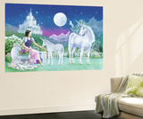 Robin Koni Unicorn Princess Mini Mural Huge Poster Art Print Wandgemälde