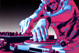 DJ Turntable Pop Art Print Poster Posters