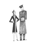 Soldier's hand muff matches his girlfriend's outfit. - New Yorker Cartoon Premium Giclee Print by Christina Malman