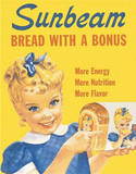 Sunbeam Bread Little Miss Sunbeam Tin Sign
