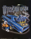 Wicked One (Car on Fire) Art Poster Print Posters