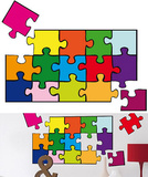 Puzzle 22 Wall Stickers Wall Decal