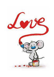 Love Mouse Art Print Poster Posters