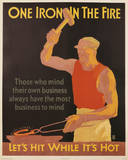 One Iron in the Fire Vintage Art Print Poster Poster