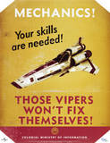 Battlestar Galactica Mechanics! Your Skills are Needed! TV Poster Print Prints