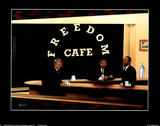 Freedom Cafe Print by T Richard