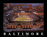 Baltimore Orioles Camden Yards First Night Game April 8, c.1992 Sports Poster av Mike Smith