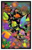 Living Reef Flocked Blacklight Poster Art Print Plakaty