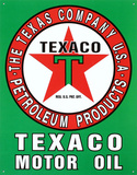 Texaco Motor Oil Gasoline Logo Tin Sign