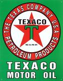 Texaco Motor Oil Gasoline Logo Tin Sign