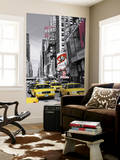 New York City Times Square Cab by John Lawrence Mini Mural Huge Poster Art Print Wallpaper Mural