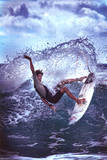 Water Ballet Surfing Art Print Poster Prints