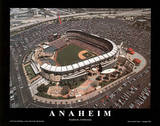 Los Angeles Angels Angel Stadium of Anaheim California Sports Poster