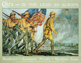 Colt Guns In The Lead As Always Army Tin Sign