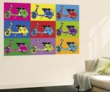 Myrjam Tell Vesparama Vespa Pop Art Mini Mural Huge Poster Art Print Wallpaper Mural