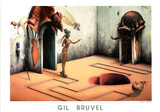 Gil Bruvel La Recontre The Encounter Art Print Poster Posters