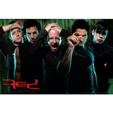 Red Group Music Poster Print Poster