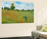 Claude Monet Champs de Coquelicots Mini Mural Huge Poster Art Print Reproduction murale g&#233;ante