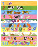 1 to 10 Counting with Animals Educational Poster Poster