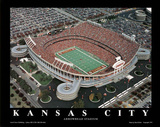 Kansas City Chiefs Arrowhead Stadium Sports Poster by Brad Geller