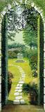 Vista dal Porticato Garden Doorway Giant Door Poster Art Print Posters