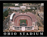 Ohio State Buckeyes Ohio Stadium NCAA Sports Plakat af Mike Smith