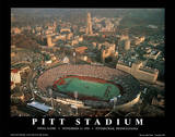 Pitt Panthers Pitt Stadium Final Game Nov 13, c.1999 NCAA Sports Poster by Mike Smith