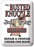 Busted Knuckle Garage Light Switch Plate Tin Sign