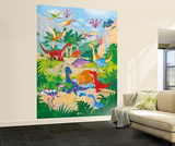 Annabel Spenceley Dino World Huge Wall Mural Art Print Poster Wallpaper Mural