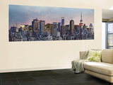 Hank Gans Manhattan Skyline New York City Huge Wall Mural Panoramic Door Poster Art Print Wallpaper Mural