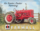 Farmall Model M Tractor Cartel de chapa