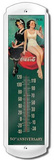 Coca Cola Bathers Indoor/Outdoor Thermometer Tin Sign